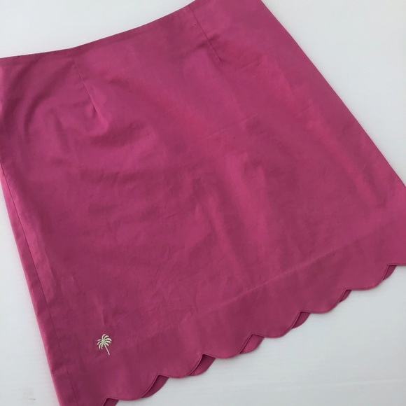 Lilly Pulitzer Dresses & Skirts - Lilly Pulitzer Scalloped Pink Skirt 4